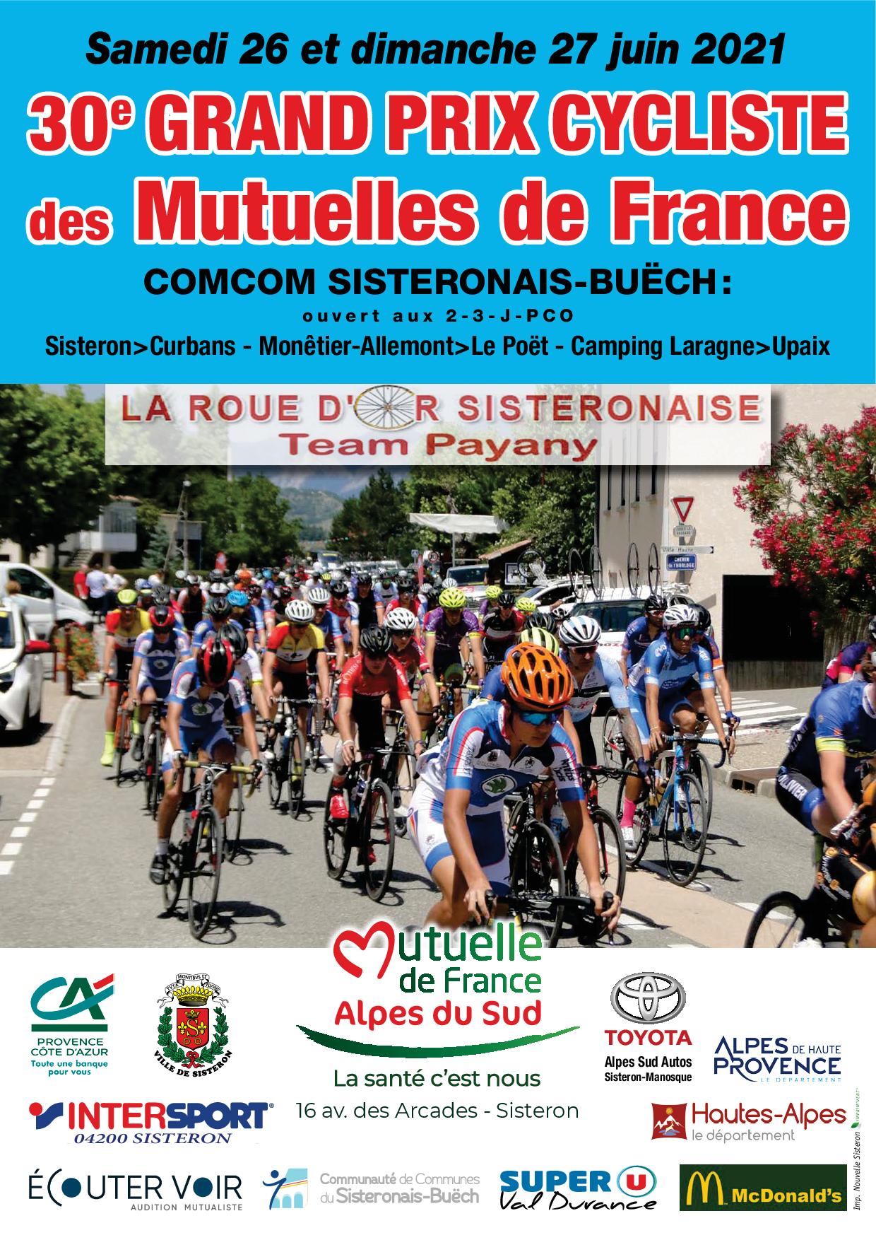 30ème Grand Prix des Mutuelles de France Alpes du Sud «Pays Sisteronais-Buëch»